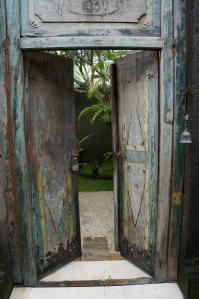 The villa front door