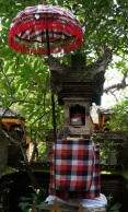 A Balinese shrine- found in every home.