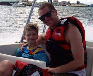 On the boat with Cian's bff Mr. Brent
