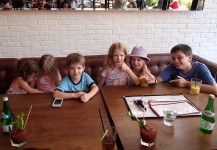 The kids at brunch