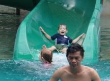 Water-slide fun