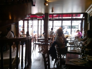 A view of our very Parisian cafe where we had lunch.