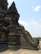 An entrance to a temple in Prambanan
