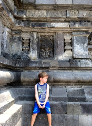 A shade break at Borobudur