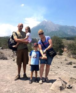 In front of Mount Merapi