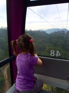 Enjoying the view form the cable car