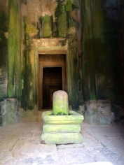 The lingum was a common symbol in Angkor culture. It symbolises...well, you know what it symbolises.