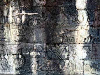 Elephant carving detail