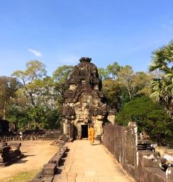 A monk atop Baphuon