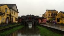 The bridge set into old town