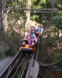 Rollar coaster down to the waterfalls