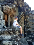 Relaxing in the ruins