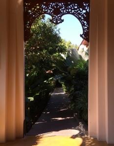 Doorway and path at Siripanna