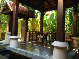Villa front patio