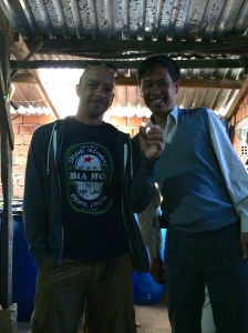 Mr. Chien, myself, and a shot of the devil's elixir