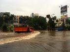 First flood of the season