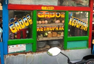Colorful gado-gado (gado2) stand