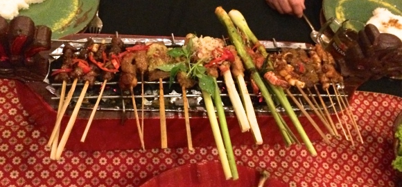 An Indonesian sate sampler