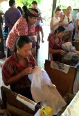 Making the traditional craft of batik