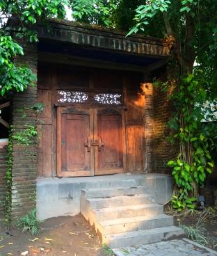 Entrance to Durga's compund