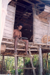 Tau Taa Wana man from the remote forests of Central Sulawesi. Photo taken in 1997