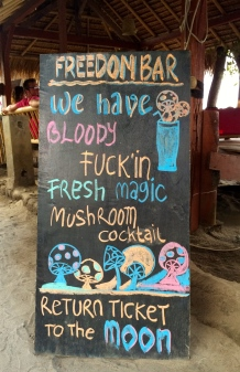 Although not as bad as Gili T, Gili Air also caters to another clientele. In Indonesia, drug use is an executable offence, but the Gilis apparently have their own rules.