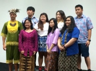 Some of my students with me during Kartini Day, a national day of Indonesian pride