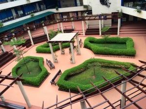 The school courtyard