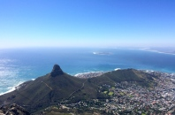 Signal Hill with Robben Island (Nelson Mandela's Alcatraz) in the background