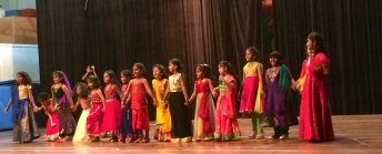 The children perform