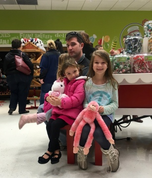 At the candy room in Yankee Candle with Uncle Andy and Tavia