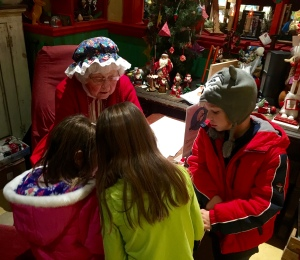A visit with Mrs. Claus (Santa was excusably busy)