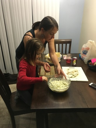 Making lasagna with Aunt Jenny