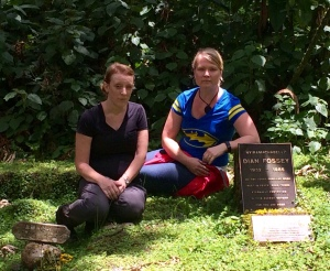 At Dian Fossey's grave