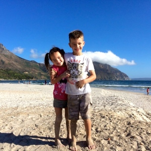 On the beach in Cape Town