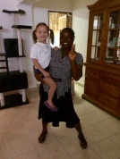 Aine and Joy, our housekeeper