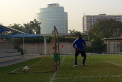 Aine as goalkeeper