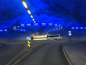 Roundabout in a tunnel