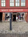 Bryggen, a UNESCO world heritage site in Bergen. Notice the slanting doorway.