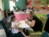 Gossiping with Mimi at Sweet Frog