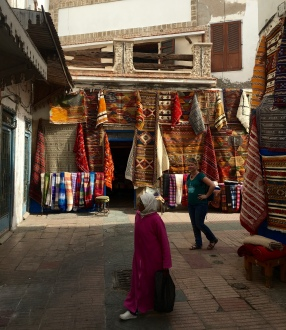 Eyeing the Berber rugs