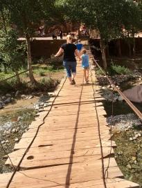 Traversing a rickety bridge