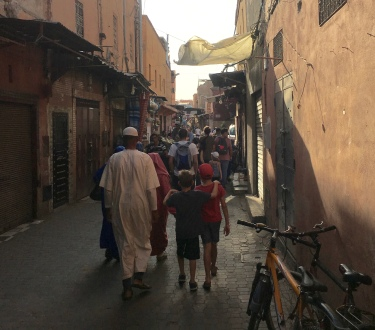Wandering the souk with Noah